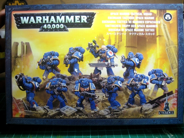 WIP - Space Marines diorama - assembly photo