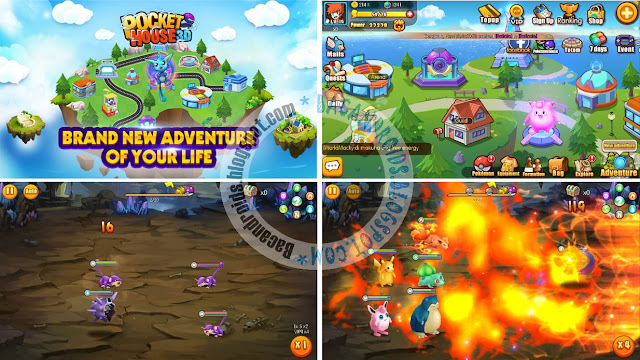 game Game Pocket House 3D Apk v1.0 For Android Feature Clans