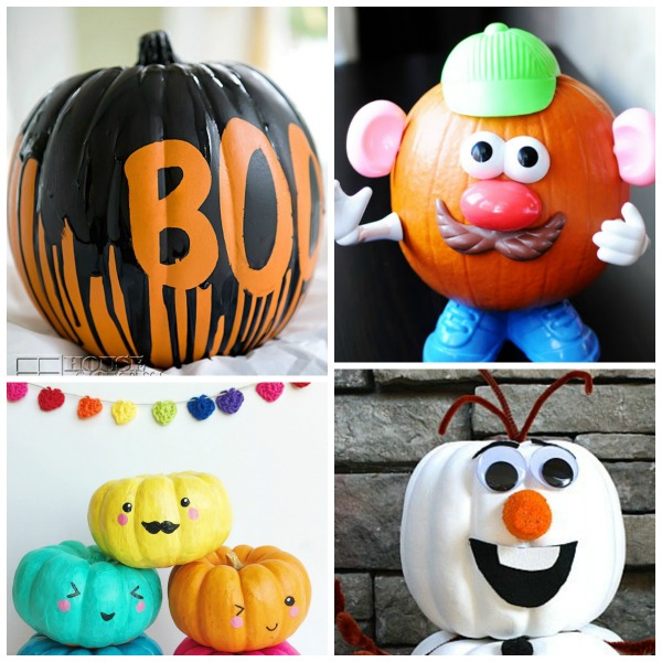 35 NO-CARVE PUMPKIN IDEAS FOR KIDS- these are awesome!!!!