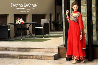 Red Chiffon/Velvet Embroidered Outfit