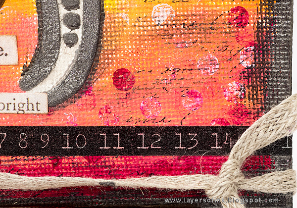 Layers of ink - Elephant Mini Canvas by Anna-Karin Evaldsson with Darkroom Door Texture Stamps