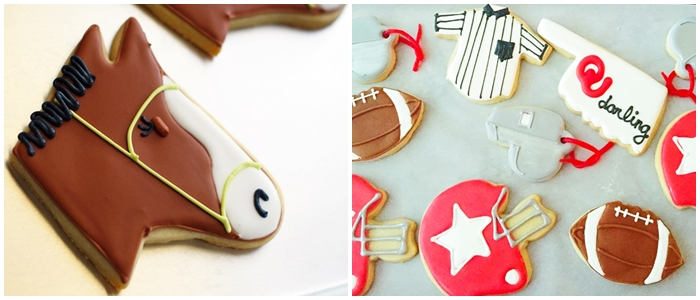 Bake at 350 decorated cookies index: sports cookies