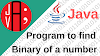 Java Program to convert decimal to binary