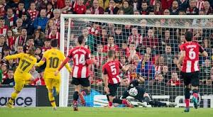 برشلونة يودع كأس ملك إسبانيا بهدف قاتل من امام فريق أتلتيك بلباو في ربع النهائي