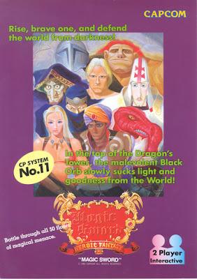 Magic Sword+arcade+game+portable+retro+flyer+art