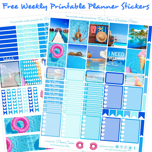 Planner Onelove: Free Beachy/ Summer Printable Planner Stickers For The EC & Recollections Planner