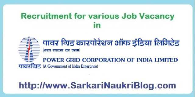 Naukri Vacancy Recruitment in Power Grid India Limited