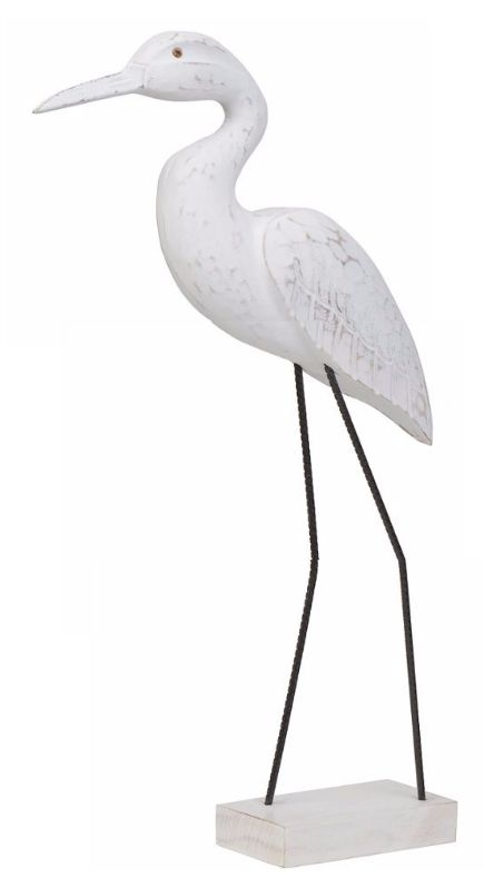 White Carved Shorebird