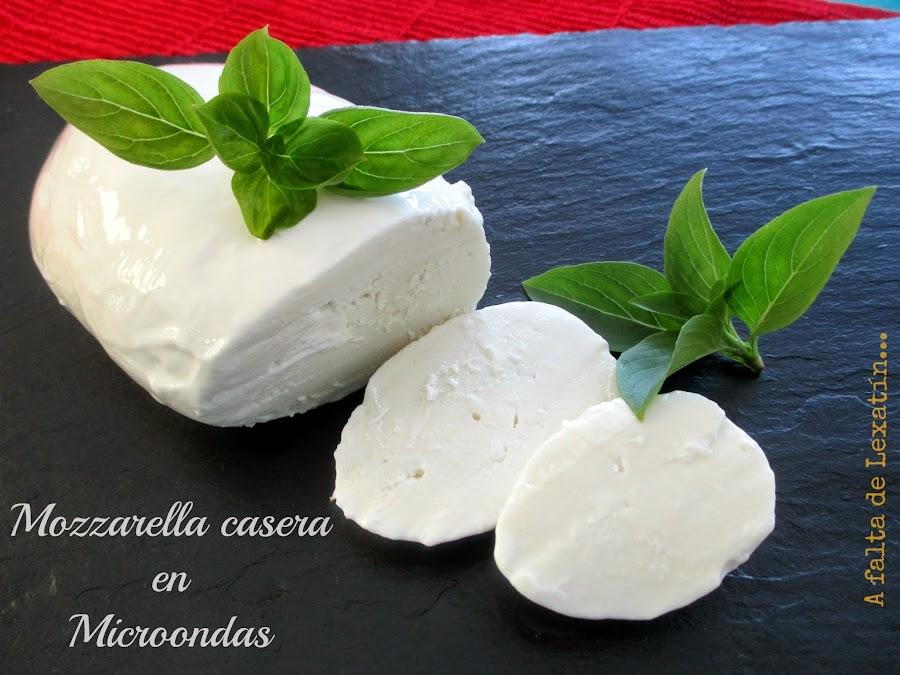 Mozzarella casera en microondas