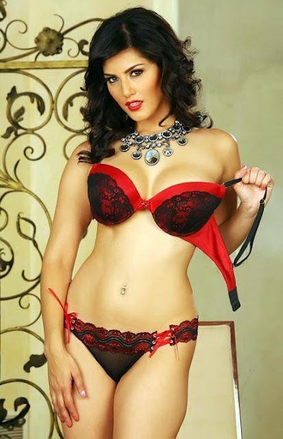 Sunny Leone red lingeri Bikini