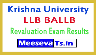 Krishna University LLB BALLB Revaluation Exam Results