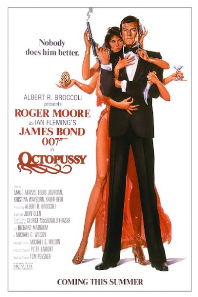Poster of James Bond Octopussy 1983 720p Hindi BRRip Dual Audio Full Movie