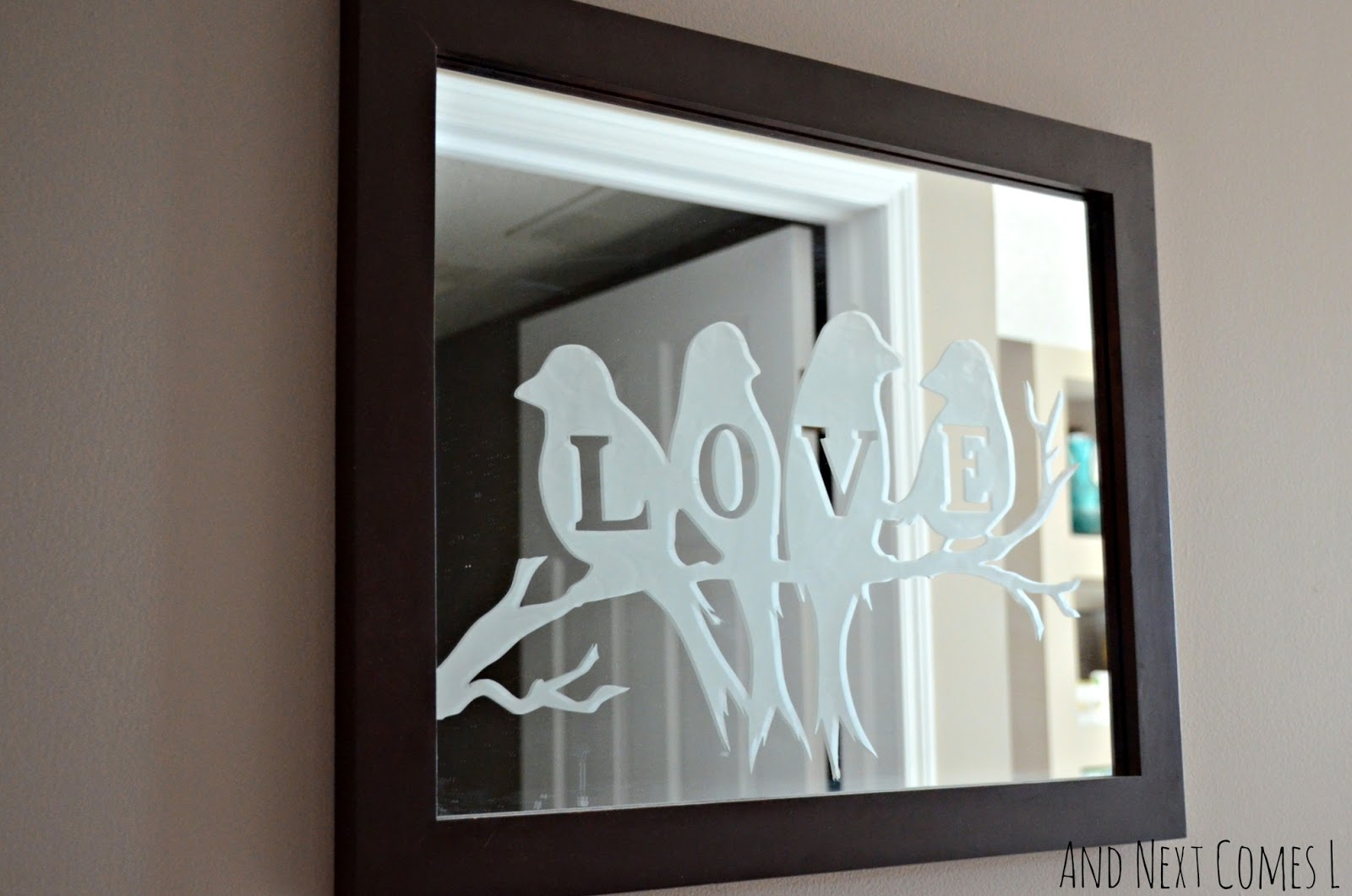 Lovebirds Etched Mirror | And Next Comes L