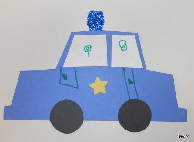 Tippytoe Crafts Police Car Craft