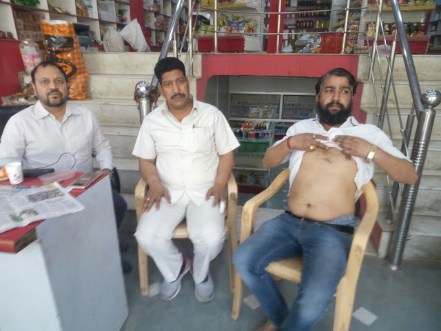 A sudden broken glass, the injured shopkeeper speaks to the MLA, the uncle of the Congress MLA Nagar Bhadana