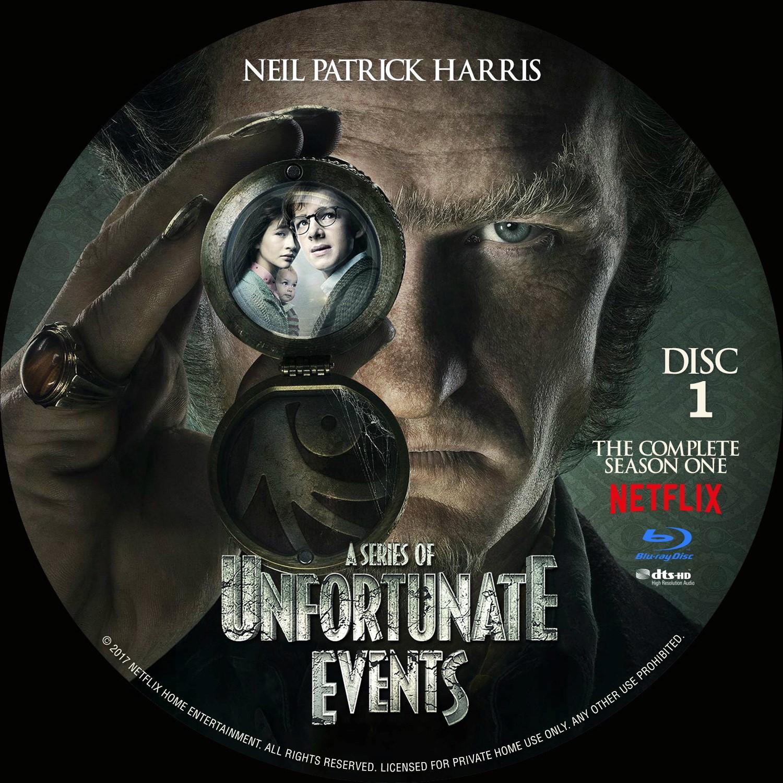 Label Bluray A Series Of Unfortunate Events Primeira Temporada