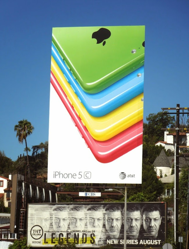 Giant iPhone 5c billboard August 2014