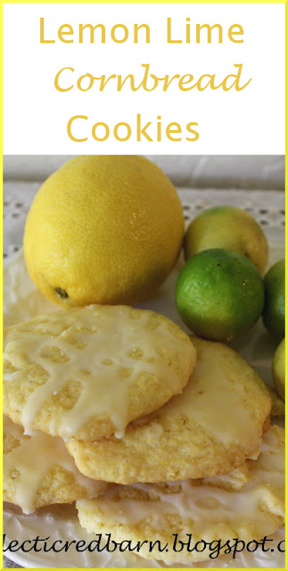 Eclectic Red Barn: Jiffy Lemon-Lime Cornbread Cookies