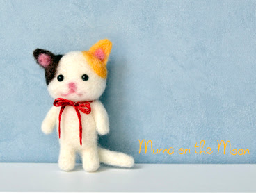 Tiny Kitten Needle Felted Tutorial Gatito Lana Afieltrada