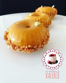 Mini Raggio Silikomart Silikomart World Mousse caramel beurre salé glaçage caramel Sablé Breton