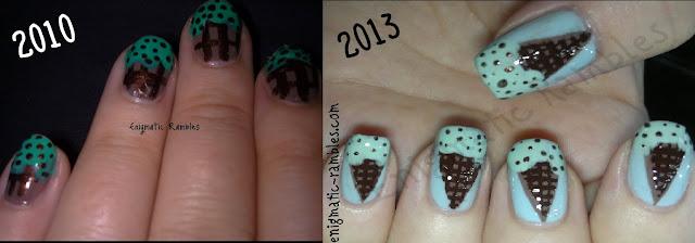 ice-cream-nails-nail-art-mint-choc-chip