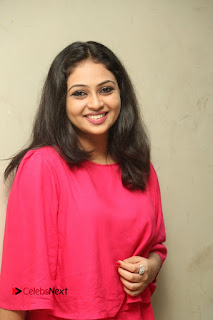 Actress Arundathi Nair Stills in Red Chididar at Bethaludu Success Meet  0044.JPG
