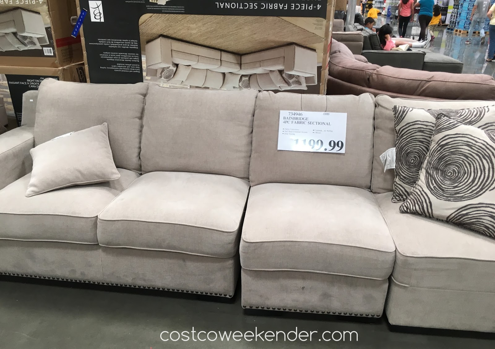 Hayden Sectional Sofa Costco Bolster Pet Bed Emerald Inspirational Gray