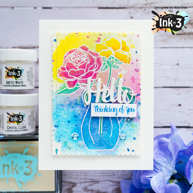 Thinking Of You Card | Coloring With Distress Oxide Inks by Ilda