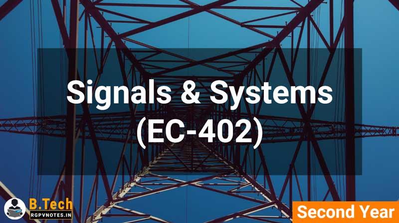 Signals & Systems (EC-402) B.Tech RGPV notes AICTE flexible curricula