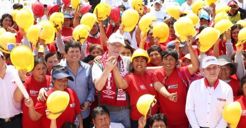 Programa Trabaja Perú del MTPE benefició con más de 2000 empleos temporales a región Lambayeque - www.trabajo.gob.pe