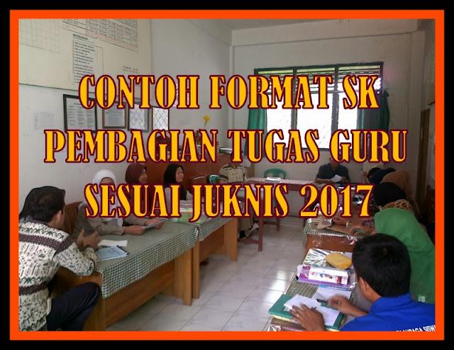 Contoh Format SK Pembagian Tugas Guru Sesuai Juknis Terbaru
