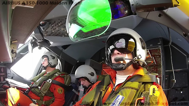 Airbus A350-1000 Test Pilots During Maiden Flight on 24 November 2016