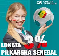 Lokata Piłkarska Senegal 3% w Credit Agricole