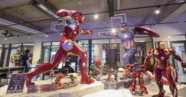台中北屯|歐雅英雄主題館|超過20座1:1英雄雕像|旋轉溜滑梯|彩色球池|歐雅室內設計展示區