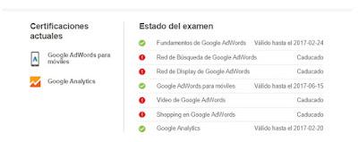 Certificaciones Google AdWords y Analytic Jaime Rodríguez-Jalón Olea