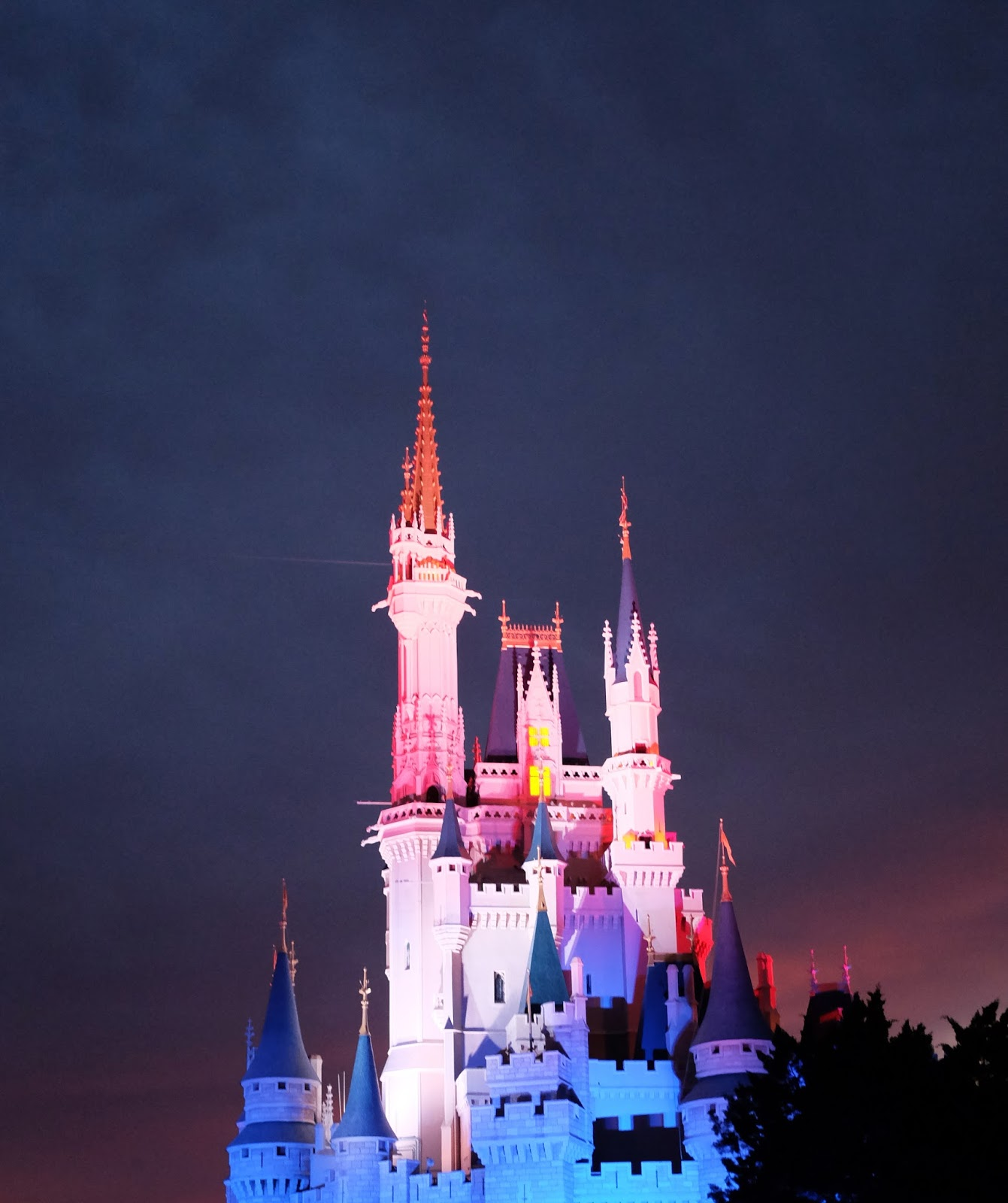 Cinderella Castle on Independence Day