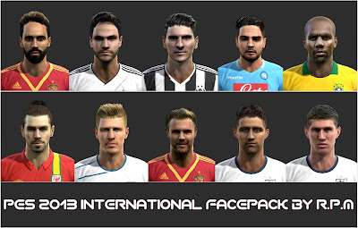 Pes 2013 International Facepack By R.P.M