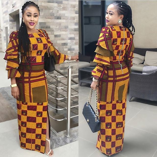 Super Stylish Ankara Long Gown Styles for Pretty Ladies - Zaineey\'s Blog