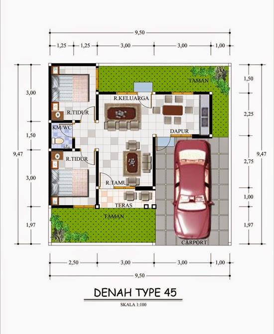 3 Contoh Denah Rumah Minimalis Modern Terbaru: Gambar Denah Rumah Minimalis Modern 3D Terbaru 2014