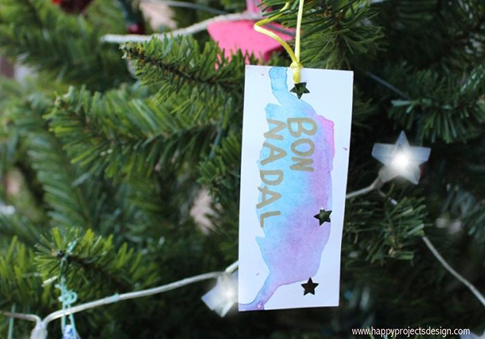 Felicitaciones navideñas handmade acuarelas