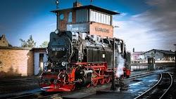 Steam Locomotive on Railway