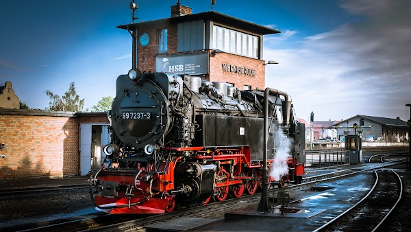 Steam Locomotive on Railway