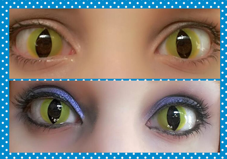 871a3401c63 Mai Cosplay  ColourVue Crazy Cat Eyes Review! Dark Bloom Make up~