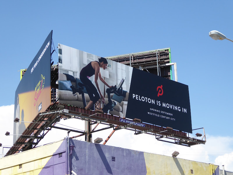Peleton is moving in billboard