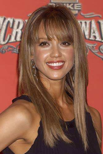 Celebrity Hairstyle Jessica Alba Hairstyles For Thick Hair