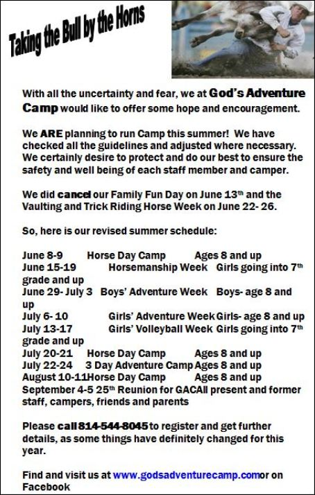 6/29-7/3 Boys Adventure Week
