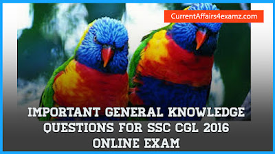General Knowledge Questions for SSC CGL 2016