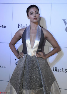 Pooja Hegde in Spicy Short Dress by Ami Aggarwa To International Scotch Day Event Feb 2017 03.jpg