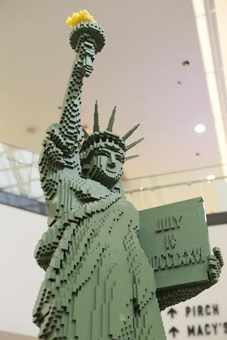 Statue of Liberty from Legos