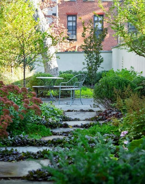 jardín remodelado